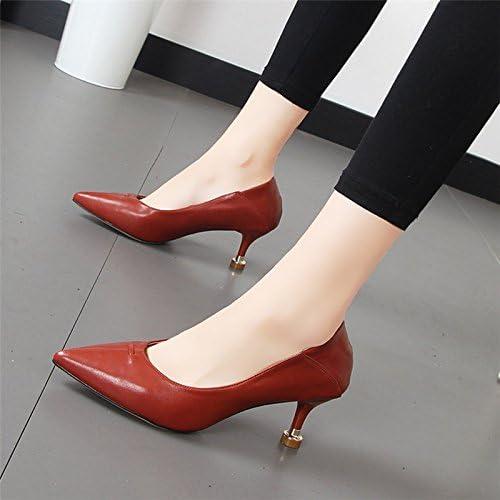 Xue Qiqi chaussures à haut talon féminin et pointe polyvalent light est un seul chaussures noires chaussures de travail