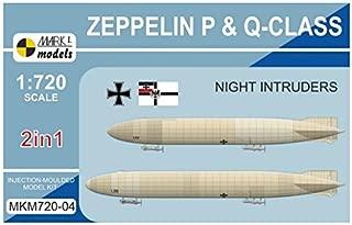 Mark 1 1/720 German P-class Zeppelin & Q class Zeppelin midnight intruder 2 kit containing plastic model MKM72004