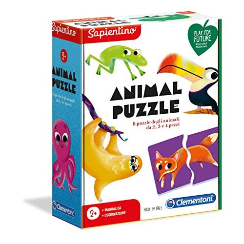 Clementoni-16146-Sapientino-Animal Puzzle, Gioco educativo, Multicolore, 16146