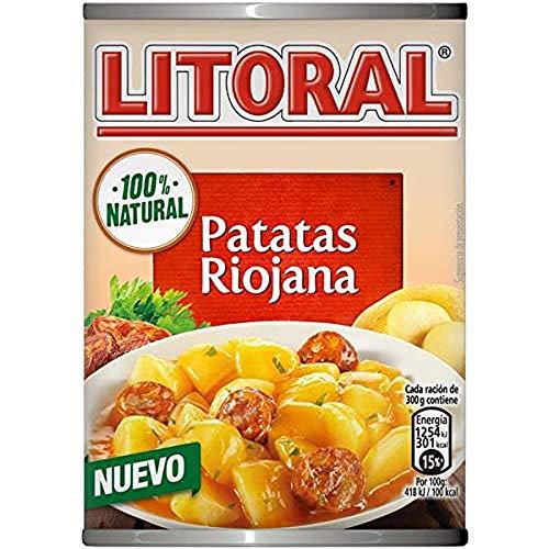 LITORAL Guiso de Patatas a la Riojana - Plato Preparado Sin Gluten - Paquete de 10x425g - Total: 4.25kg