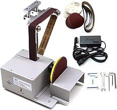 Juego de corte pulidora de sierra de mesa multifuncional Mini sierra de mesa lijadora de cinturón pulidora de torno máquina de pulir para carpintería DIY Jade (Configuración estándar)