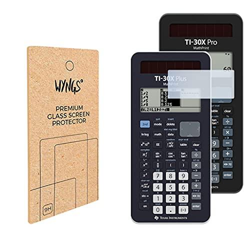 WYNGS Panzerglas Displayschutzfolien kompatibel mit TI-30X Plus MathPrint und TI-30X Pro MathPrint wissenschaftlicher Taschenrechner (2 Stück)
