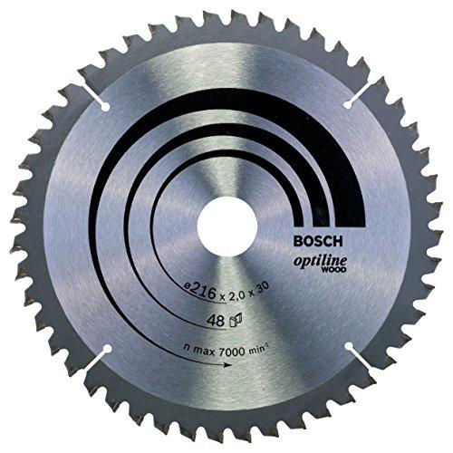Bosch Professional Kreissägeblatt Optiline Wood (für Holz, 216 x 30 x 2 mm, 48 Zähne, Zubehör Kreissäge)