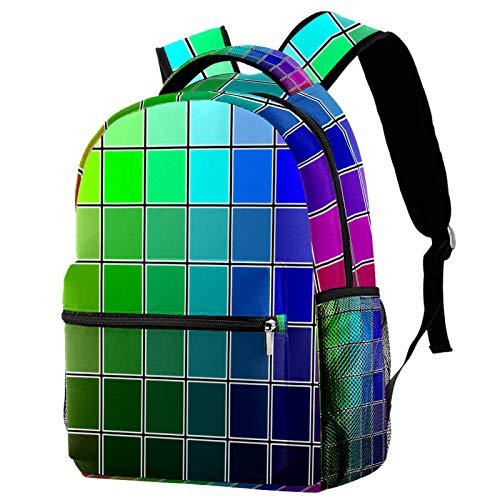 Rucksack Cool Color Swatches Schultasche Rucksack Reise Casual Daypack für Frauen Teenager Mädchen Jungen
