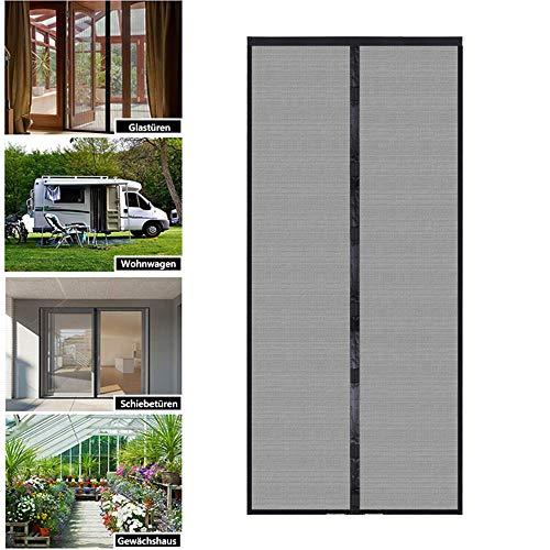 Magnet Fliegengitter Tür,Insektenschutz Balkontür,Moskitonetz Tür 60x180cm,Ohne Bohren,Kinderleichte Klebemontage,Für Balkontür Terrassentüren