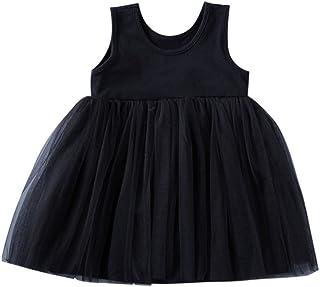 Lemcos 子供 ワンピース 無地 ノースリーブ コットン レース Oネック 子どもドレス 女 可愛い スカート 子供服 女の子用 春衣装 女児