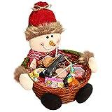 Titular del Partido De Navidad Elk Navidad Almacenamiento Caramelo Cesta Animados Santa Muñeco De Nieve De Regalo para El Hogar Decoración Almacenamiento
