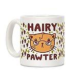 LookHUMAN Hairy Pawter White 11 Ounce Ceramic Coffee Mug