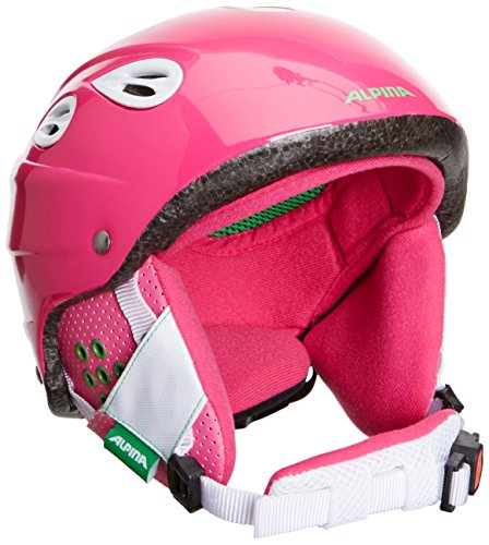 ALPINA Kinder Skihelm GRAP Junior, Pink, 54-57