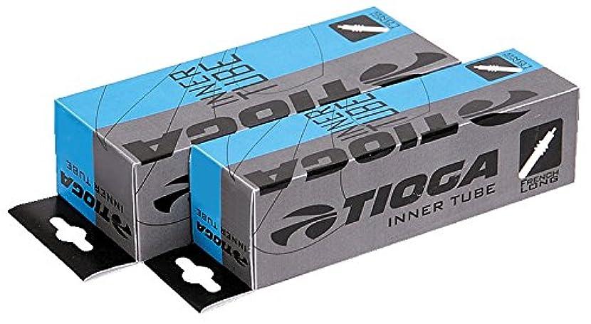 仲良し南西胸2本セット TIOGA(タイオガ)【正規品】箱入り インナーチューブ 仏式バルブ48mm 700×35c~43c ETRTO(35/43-622)