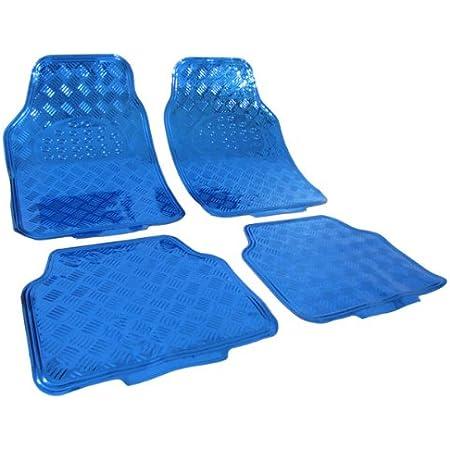 Cartrend 10599 Universal Teppich Matten Stoffmatten Autoteppiche Fussmatten Auto 4 Teilig Hochglanzgarn Textilmatte Basic Blau Auto