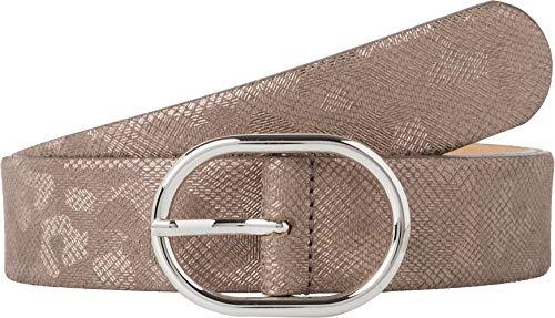 BRAX Damen Style Ledergürtel Mit Glanzfolie Gürtel, SAND, 6671 (Herstellergröße: 105)