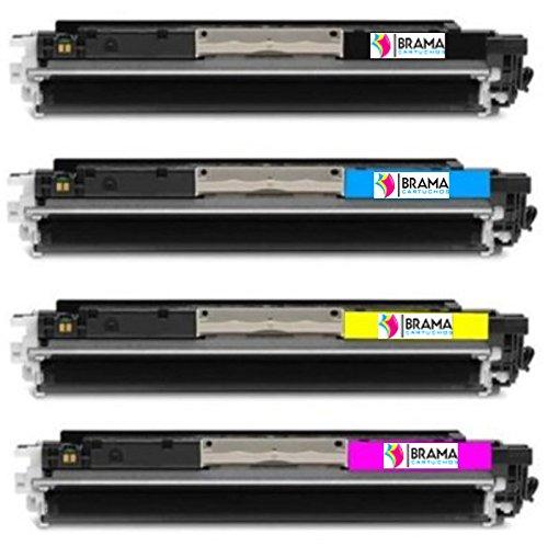 Bramacartuchos - 4 x Cartuchos compatibles para Hp 130A CF350A CF351A CF352A CF353A,HP Colour Laserjet Pro 100 Color MFP M176n, Pro M177fw
