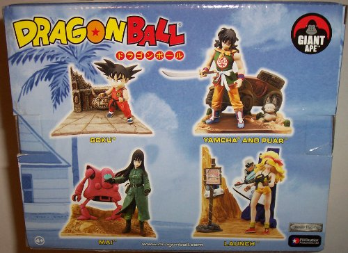 Dragonball Jakks Pacific FUNimation Collectible Figures Complete Set of 4 Including Goku, Mai, Launch, Yamcha and Puar
