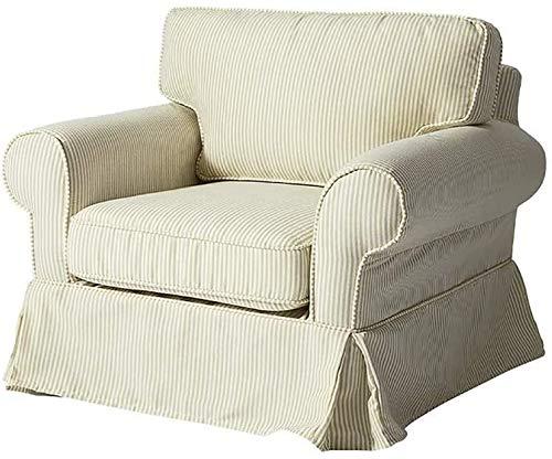 Sofá minimalista moderno del reposabrazos del bebé, silla de lectura de un solo niño y niña desmontable,Beige