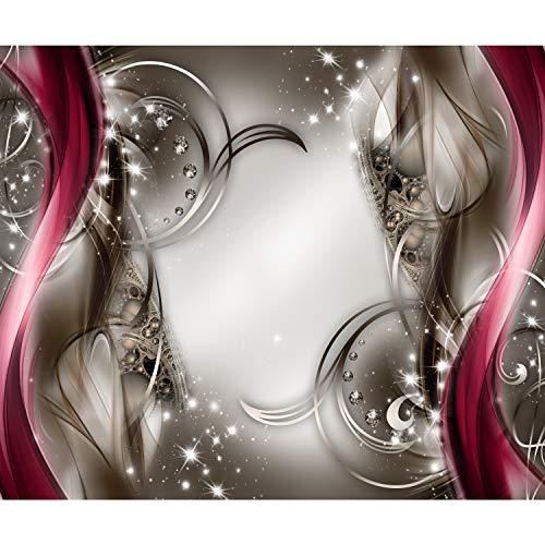 decomonkey Fototapete Abstrakt 350x256 cm XL Tapete Fototapeten Vlies Tapeten Vliestapete Wandtapete moderne Wandbild Wand Schlafzimmer Wohnzimmer Diamant