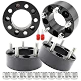 Richeer 5x4.5 Wheel Spacers Compatible with TJ XJ MJ YJ KJ KK ZJ, 4PCS 2 inch 5x114.3mm Wheel Spacer with 1/2-20 Studs & 82.5 mm Center Bore 5 Lug Wheel Spacers for Explorer Ranger Mustang