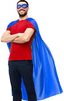 D.Q.Z Superhero-Capes for Adults Bulk with Masks, Super Hero Dress Up Costumes for Men Women Role Play Party Favors,1...