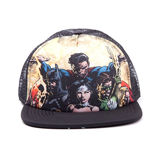 Justice League - Casquette Trucker Snapback - Heroes Black