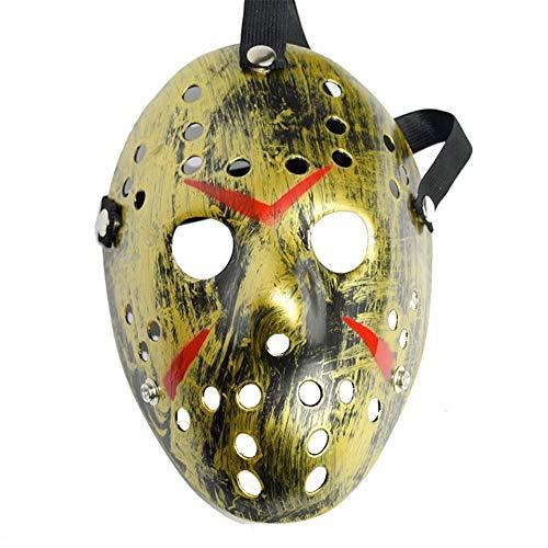 2019 de Halloween resina de terror de Navidad máscara de Halloween máscara de Freddy Guerra Jason máscaras bola de mascarada Adecuado para carnaval noche tema de la fiesta ( Color : BronzeGolden )