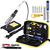 Wmore Soldering Iron Kit, 14 in 1 110V 20W to 60W Adjustable Temperature...