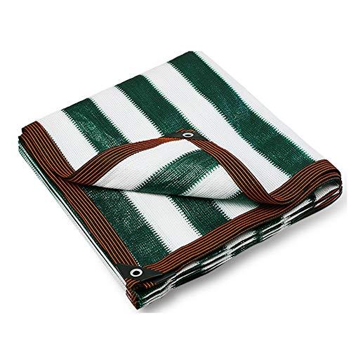 GXBCS Toldo Vela de Sombra 85% de protección Solar Verde Oscuro Pantalla de Tela cifrado Espesado con Ojales sombreado Neto (Color : A, Talla : 3x8m)