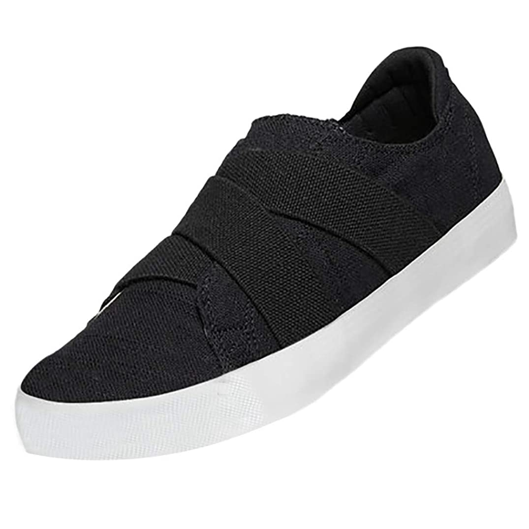 Respctful?Women's Loafers Slip On Flatform Top Ruched CRIS Cross Fashion Flat Sneaker Comfortable Closed Toe Shoes
