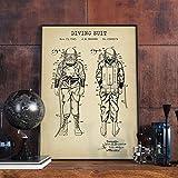 NatacióN Patente Imprimir Steampunk Vintage Poster NáUtico...