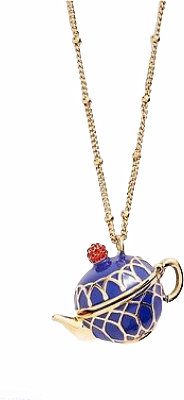 Kate Spade New York Tea Time Locket Teapot Pendant Necklace