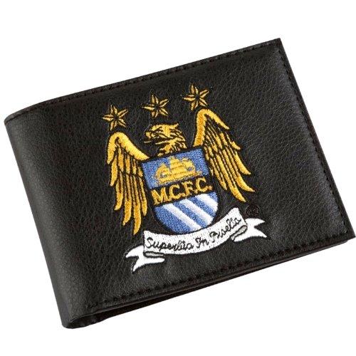 Manchester City Crest - Cartera de Piel Bordada, Multicolor