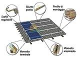 Kit struttura di montaggio per pannelli fotovoltaici 3 KW su tetto a falda con tegole standard