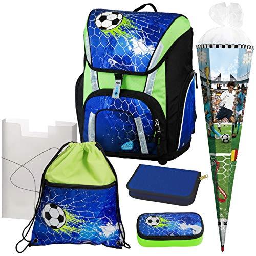 Soccer Champ - Football Fußball- Schulranzen-Set TOOLBAG SMART -78321-070 Schneiders 6tlg. mit FEDERMAPPE und SCHULTÜTE