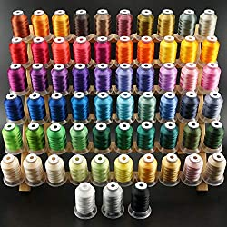 New Brothread 500Y 63 Colors Polyester Thread