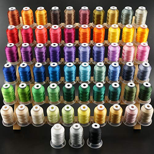 New brothread 63 Brother Colors Polyester Embroidery Machine Thread Kit 500M (550Y) Each Spool for...