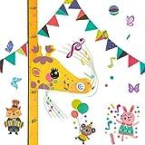 Lorcoo Tabla de Crecimiento Infantil Medidor de Altura para Niños, 3D Jirafa Regla de Altura para niños con Decoración de la Pared