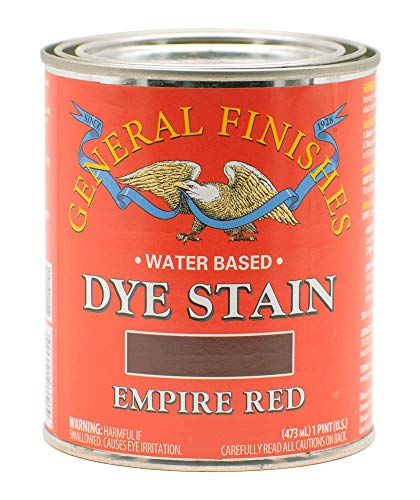 General Finishes Water Based Dye, 1 Pint, Empire Red