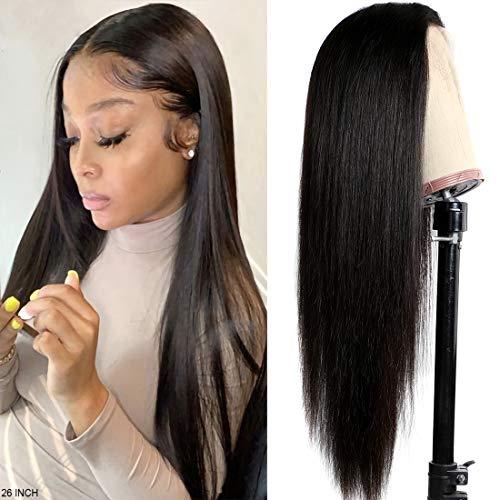 Bele Perruque Femme Naturelle Brésilien Lace Front 20 Pouces Raides Lisse Perruque Pré Plumé 150% Densité Perruques Cheveux Humains Avec Baby Hair