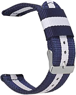 Quick Release Watch Band Thick NATO Nylon Strap 2 Pieces Wristband Replacement Colors Widths