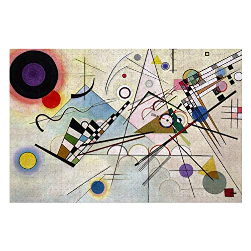 Wassily Kandinsky Composition Puzzles for Adults, 1000 Piece Kids Jigsaw Puzzles Game Toys Gift for Children Boys and Girls, 20