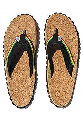 Zion Rootswear Bob Marley Cork 3 Reggae Music Herren-Flip-Flop-Sandalen, Mehrere (mehrfarbig), 48 EU