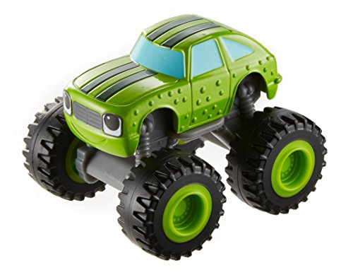 Blaze y los Monster Machines de Nickelodeon - Vehículo Pickle, Color Verde(Mattel CGF23)
