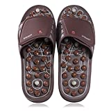 BYRIVER Acupressure Foot Massager Reflexology Massage Tools Mat, Health Sandals Shoes Slippers, Relief Fatigue, Heel, Back Pain Relaxation Gifts for dad mom(03L)