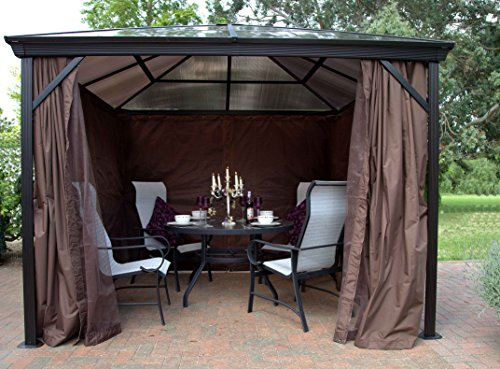 Runcton Polycarbonate Square Gazebo Brown