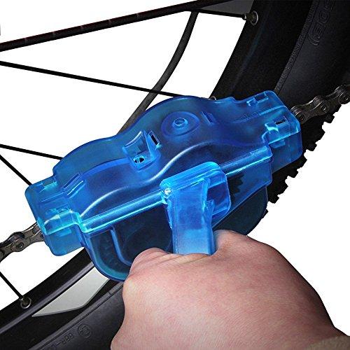 Yizhet Fahrrad Kettenreinigungsgerät Fahrradkettenreiniger Reinigung Scrubber Pinsel-Werkzeug im Set für Kettenreinigung Schnelles Sauberes Werkzeug Cycling Bike Bicycle Chain Cleaner - 5