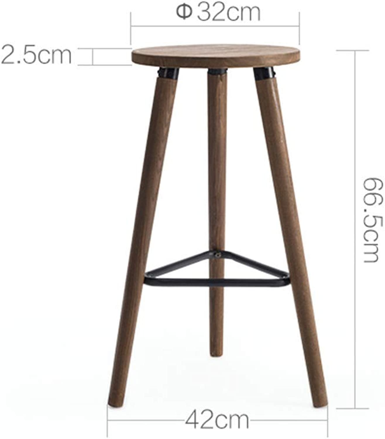 WLG Footstool, shoes Bench, Sofa Bench, Creative Wrought Iron round MultiFunction Stool
