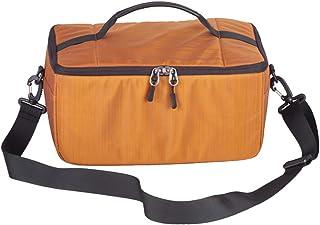 [FUPUONE]カメラ収納バッグ インナーバッグ カメラボックス レンズ収納 保護 一眼レフ 防水 (オレンジ)
