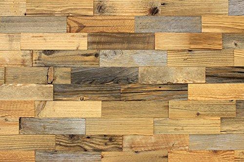 wodewa Wandverkleidung Holz Altholz Kiefer Klassiker Recycling Wandpaneele Moderne Wanddekoration Holzverkleidung Vintage Holzwand Wohnzimmer Küche Schlafzimmer