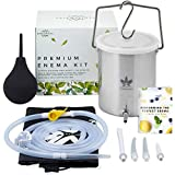 Medisential Enema Kit - Suitable for Coffee, Water and Gerson Therapy - Stainless Steel Bucket - Large for Home Use - Relaxing and Comfortable to Use - with Full Instructions Manual & Enema Bulb