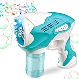 10. Bubble Gun for Kids Bubble Gun Blower for Toddlers Automatic Bubble Maker Blower Machine with Lights and Music for Bubble Party, Outdoor Toys, Outdoor & Indoor Activity, Kids Birthday&Party Gift