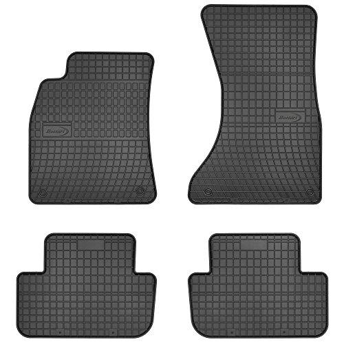 Bottari 39626 Set de 4 tapis de sol sur mesure en caoutchouc pour A4 2007 - 2015